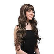 슈퍼 - 긴 곱슬 곱슬 한 갈색 머리 가발 ms195-SRT