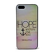 Esperanza Anclas El Patrón Soul Hard Case para el iPhone 5/5S