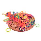 kits para telar colorido del arco iris (PC al azar de la goma, aguja de crochet de reciclaje, gancho de reciclaje s)