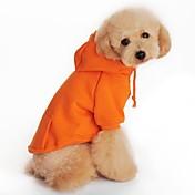 Perros Saco y Capucha Rojo / Naranja / Negro / Gris Ropa para Perro Primavera/Otoño Un Color