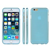 Grind Arenaceous Transparent TPU Case Covers for iPhone 6 Plus Case 5.5 inch(Assorted Colors)