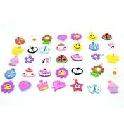 20pcs bandas de goma de silicona twistz bandz bricolaje pulseras colgantes ornamentos de color arco iris del estilo telar para los niños