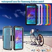 용 Samsung Galaxy Note 충격방지 / 투명 케이스 풀 바디 케이스 단색 PC Samsung Note 5