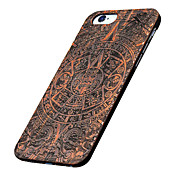 Para Funda iPhone 5 Carcasa Funda Diseños En Relieve Cubierta Trasera Funda Fibra de Madera Dura Madera para AppleiPhone 7 Plus iPhone 7