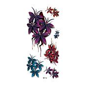 타투 스티커 꽃 시리즈 Non Toxic 패턴 Waterproof 3-D여성 어른 플래시 문신 임시 문신