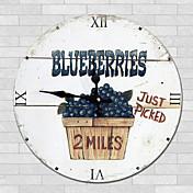 현대/현대 가족 벽 시계,라운드 우드 34*34*3cm 실내 시계