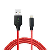Lightning USB 2.0 짜임 케이블 제품 Apple iPhone iPad 120 cm 나일론