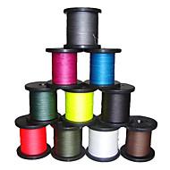 500M / 550 Yards PE Gevlochten Lijn / Dyneema VislijnZwart / Groen / Wit / Geel / Grijs / Fuchsia / Rood / Blauw / Donker Groen /
