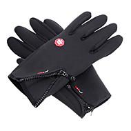 skid Helt finger Alla Aktivitet/Sport Handskar Håller värmen Anti-Halk Skidåkning Bomull Skidhandskar Vår Höst Vinter Svart