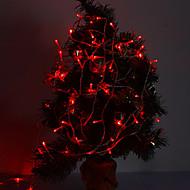 10M 8 Ekran Modu ile Noel Dekorasyon için 6W 100-LED 420lm Red Light LED Şerit Işık (220V)