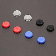 PS4를위한 세트 8 개 엄지 스틱 그립 (화이트, 블랙 2PCS, 레드의 2PCS, 파랑에있는 2PCS의 2 PCS)