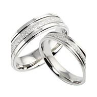 커플용 커플 링 밴드 반지 러브 신부 의상 보석 티타늄 스틸 Circle Shape 보석류 제품 결혼식 파티 일상 캐쥬얼