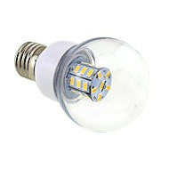 4w e26 / e27 led gloeilampen g60 27 smd 5730 500 lm warm wit dc 12 / ac 12 / ac 24 / dc 24 v