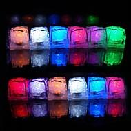 12PCS 색깔 변화 얼음 조각 LED 조명 파티 결혼식 크리스마스 바 레스토랑
