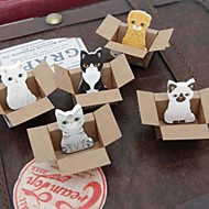 kleine doos dier speelgoed zelfklevende notes (willekeurige kleur)