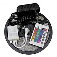 W Flexibele LED-verlichtingsstrips Verlichtingssets RGB-verlichtingsstrips lm AC100-240 5 m leds RGB