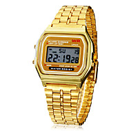 Personalized Fashionable Men's Watch Dress Watch Multi-Function Square Digital LCD Dial Alloy Band