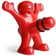 창조적 인 행복 남자 스타일의 플라스틱 병 마개 9.5 * 8.5 * 5.5 cm (3.74 * 3.35 * 2.17 인치)