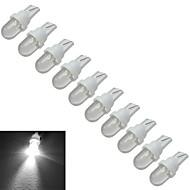 Jiawen® 10szt t10 0.5w 30-50lm 6000-6500k zimne białe lampki sygnalizacyjne samochodowe doprowadziły światło samochodowe (dc 12v)