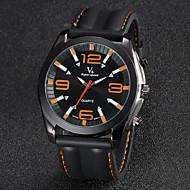 V6 Herren Armbanduhr Quartz Japanischer Quartz Silikon Band Schwarz Weiß Orange Gelb Rot Blau