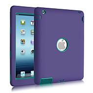3 in 1 Combo aaltokuvio PC& silikoni murtosuojattu iPadille 2/3/4