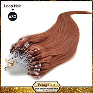 "100s 20 ""de cor # 30 muitas cores availale Remy circuito micro extensões de cabelo humano"