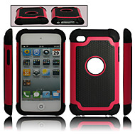 dual afneembare kunststof en siliconen case voor ipod touch 4 (verschillende kleuren)