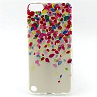 flower painting patroon TPU zachte hoes voor ipod touch 5