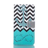 Til Samsung Galaxy etui Etuier Pung Kortholder Med stativ Flip Heldækkende Etui Anker Kunstlæder for Samsung S6 edge S6 S5 Mini S5