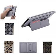 ultradunne camouflage stijl lederen tas fashion cool met riem kaarthouder case voor de iPad 4/3/2