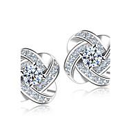 Muškarci Žene Sitne naušnice imitacija Diamond Moda Vjenčan Elegantno Simple Style kostim nakit Plastika Kristal Umjetno drago kamenje