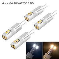 2W G4 Żarówki LED bi-pin T 6 SMD 3014 180 lm Ciepła biel / Zimna biel Dekoracyjna DC 12 / AC 12 V 4 sztuki