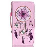 de nieuwe campanula lanyard pu leer materiaal flip-kaart mobiele telefoon voor ipod touch 5/6