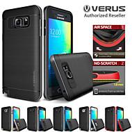 Voor Samsung Galaxy Note Schokbestendig / Beplating hoesje Achterkantje hoesje Effen kleur TPU Samsung Note 5 / Note 4
