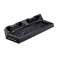 #-P4-CS001B-충전식 / USB 헙-메탈 / 브래스-USB-팬 및 스탠드-소니 PS4 / PS4