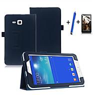 Για με βάση στήριξης / Αυτόματη αδράνεια/αφύπνιση / Ανοιγόμενη tok Πλήρης κάλυψη tok Μονόχρωμη Σκληρή Συνθετικό δέρμα Samsung Tab 3 Lite