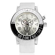 V6 Herren Armbanduhr Quartz Caucho Band Schwarz Weiß Blau Weiß Schwarz Blau