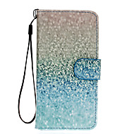 For Samsung Galaxy S7 Edge Pung Kortholder Med stativ Flip Etui Heldækkende Etui Farvegradient Kunstlæder for SamsungS7 edge S7 S6 edge