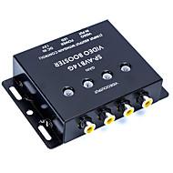 araba siyah metal kaplama 1 giriş 4 çıkış rca av Video amplifikatör splitter güçlendirici