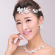 ασημένιο κρύσταλλο μαργαριτάρι κοσμήματα headband μέτωπο τα μαλλιά των γυναικών για το γαμήλιο γλέντι