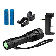 ZK10 LED-Zaklampen LED 4000 Lumens 5 Modus Cree XM-L T6 1 x 18650 batterij Verstelbare focus Schokbestendig Antislip-handgreep Oplaadbaar