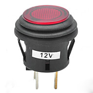 jtron 12v 20a Auto Druckknopfschalter mit roten Rast / blauer LED-Anzeige