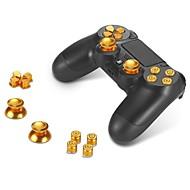 fém gombok abxy gombok + karokkal fogódzóknak és króm d-pad Sony PS4 DUALSHOCK 4 kontroller mod kit