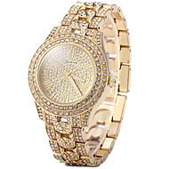 Dames Dress horloge Modieus horloge Vrijetijdshorloge Pavé horloge Kwarts Vrijetijdshorloge imitatie Diamond Roos verguld Roestvrij staal