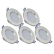 3W Alaspäin valaisevat LED-valaisimet 270 lm Lämmin valkoinen / Kylmä valkoinen SMD 5730 AC 85-265 V 5 kpl