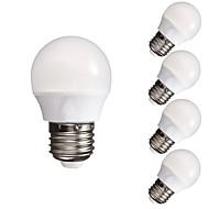 5pcs 3w 300-350lm e27 dimmable 10x5730smd topao hladna bijela svjetiljka svjetiljka svjetiljka