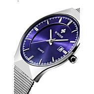 WWOOR Pánské Pro páry Hodinky k šatům Módní hodinky Náramkové hodinky Křemenný Kalendář Voděodolné Nerez Kapela Běžné nošení Luxusní