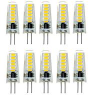 10pcs g4 12led smd5733 2w 200-300lm quente branco / branco decorativo levou bi-pin luzes dc12v