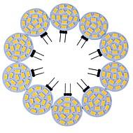 10szt. G4 15led smd5730 3w 200-300lm ciepły biały / biały dekoracyjny dc12v led bi-pin lights