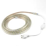 4m / 1 Adet 5050 esnek bant ip ışık şeridi Noel su geçirmez bahçe açık lightingeu fişi dış mekan LED 220V